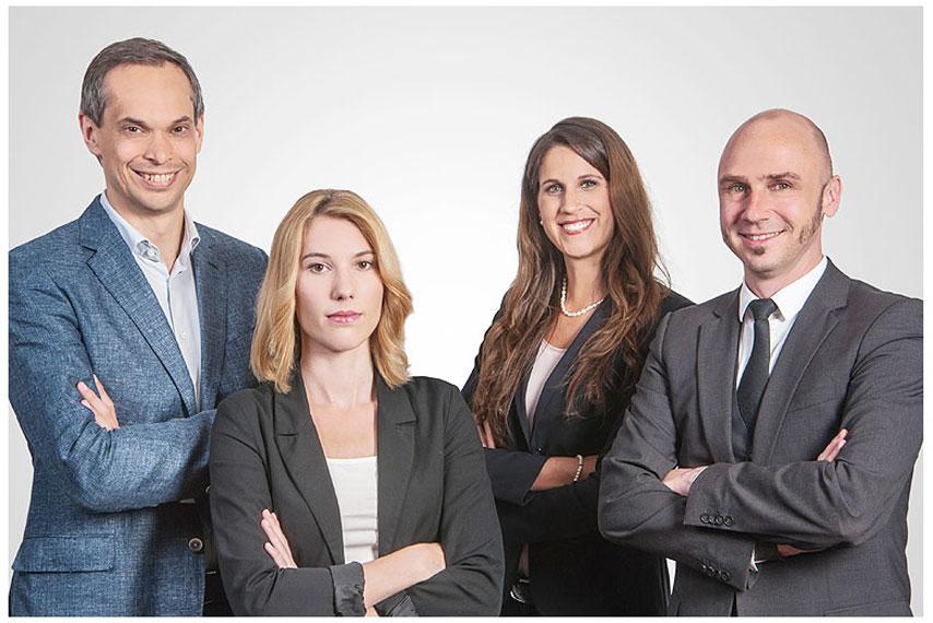 Businessportrait Firma gruppenfoto geschäftsleitung