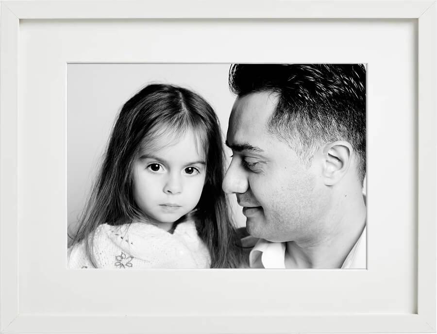Familienfoto Papa mit Tochter, Fotostudio Familien-Shooting