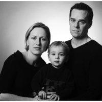 Familienfoto München schwarz-weiss