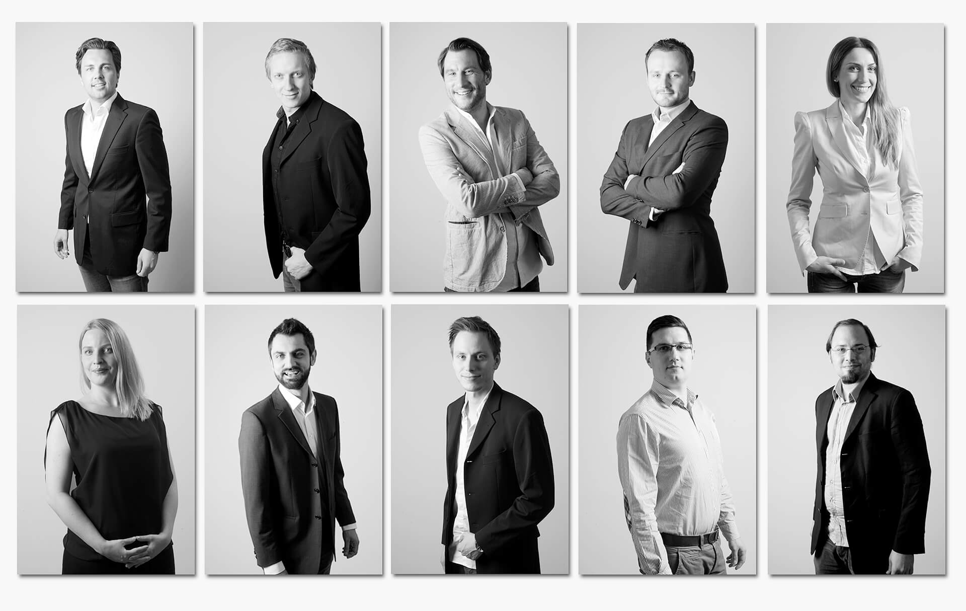 Firmeshooting München Galerie Team Halbportraits