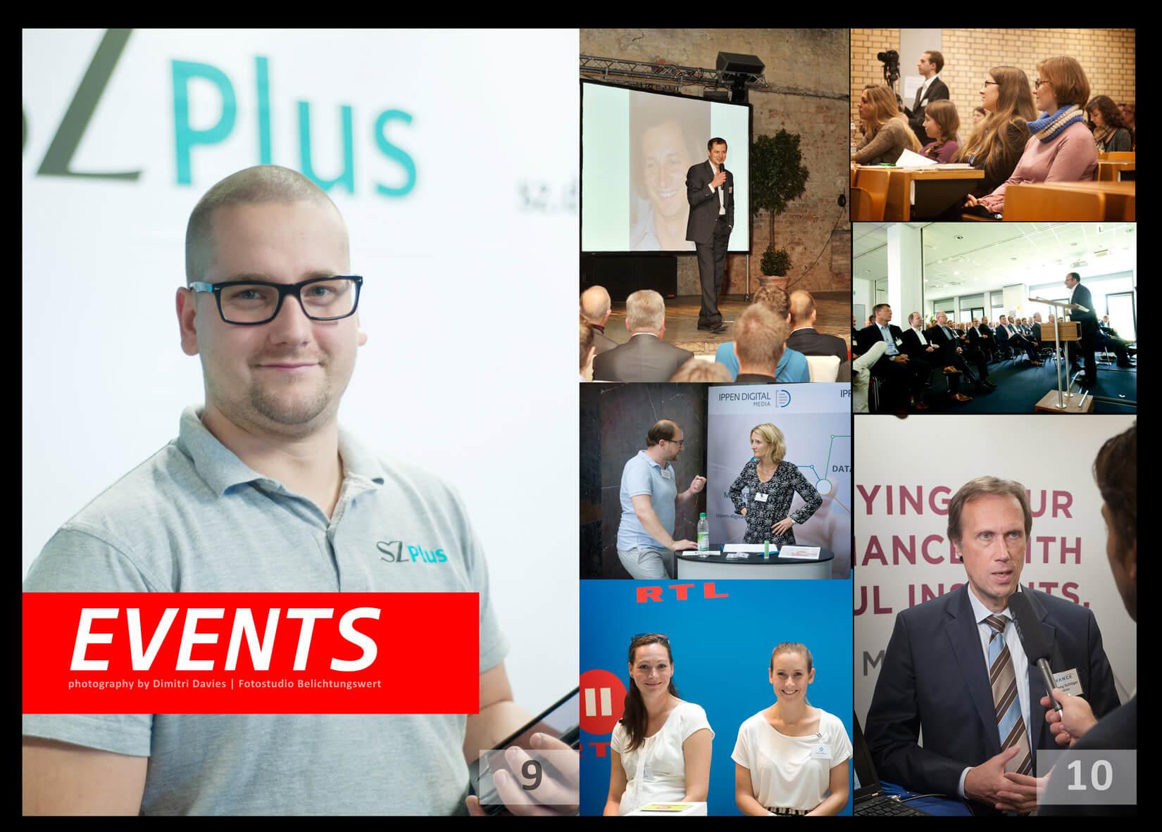 Eventfotografie München SZ Werbung, Kollage mit unterschiedlichen Events