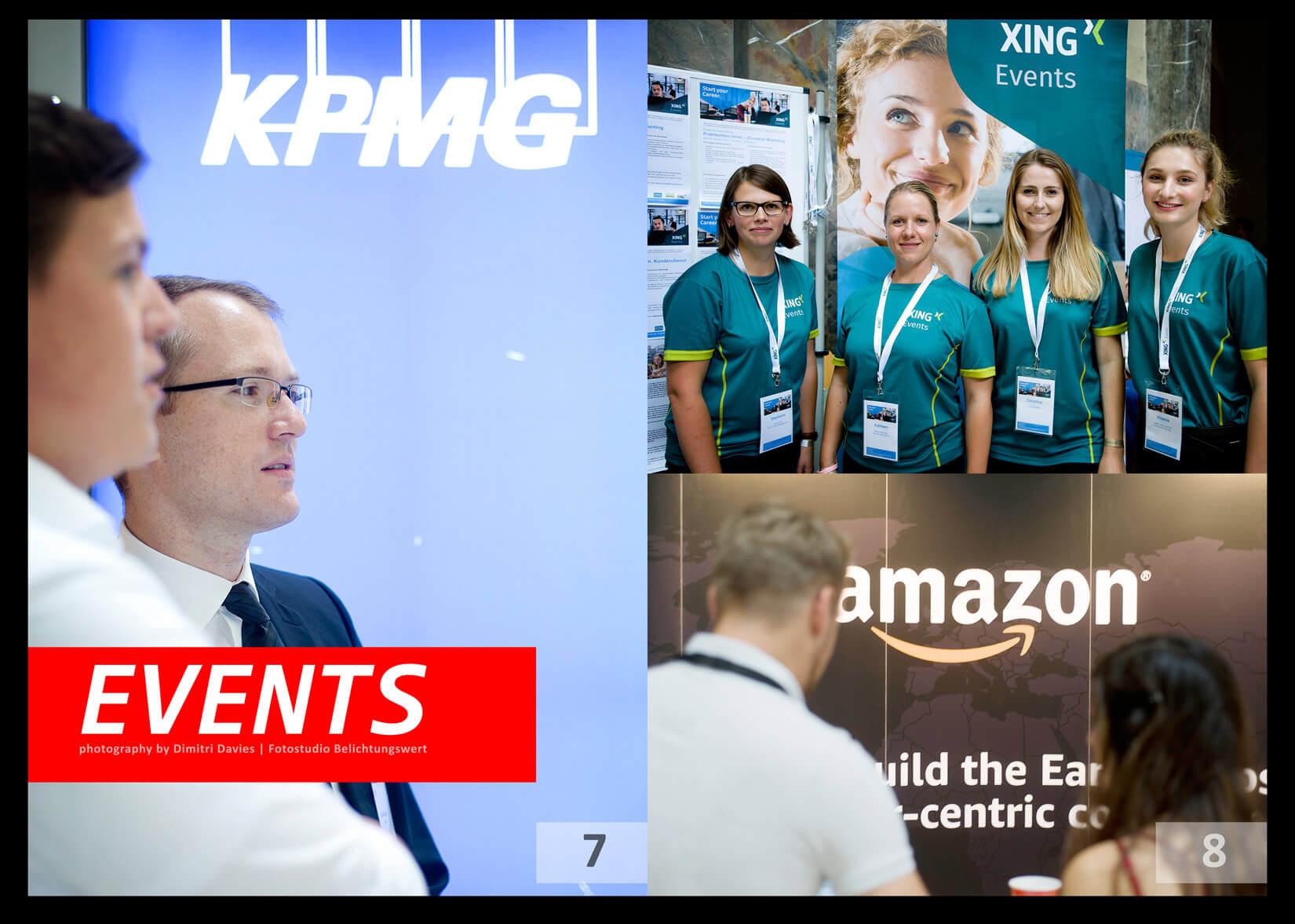 Eventfotografie München KPMG Amazon und XIng Teams in schöner Umgebung