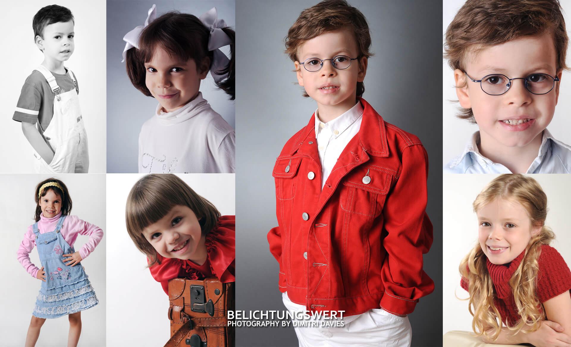 Sedcards Für Kinder verschieden Kinder Kollage studio Fotoshooting
