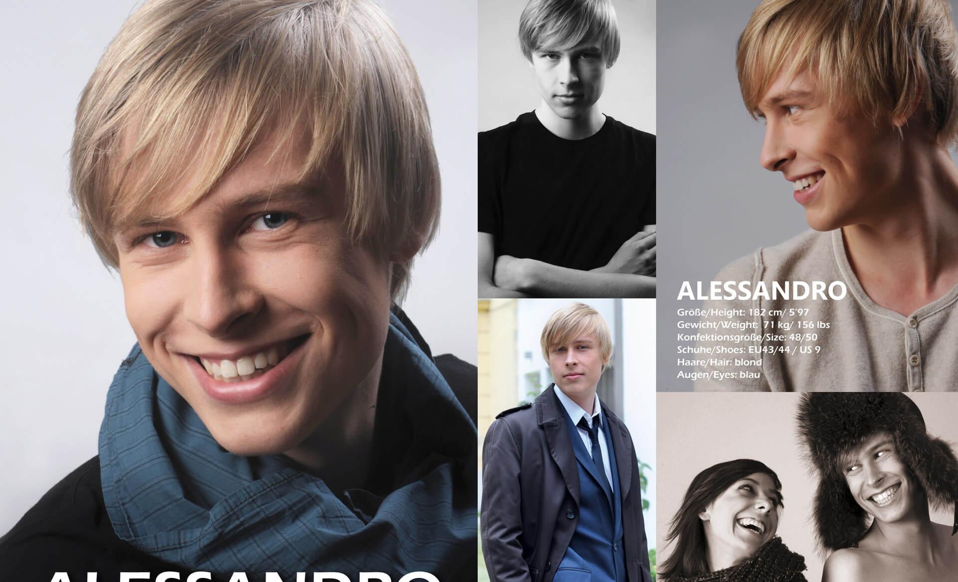 Sedcards Für Models Junger Mann Sedcard Cool & Business